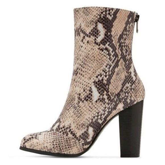 3dc9fd97fae Aldo Shoes - Ashlie A+ Snake Skin Mid Shaft Target Booties